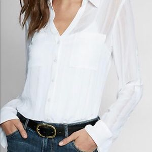 Express White Portofino  Button Down Shirt Size M